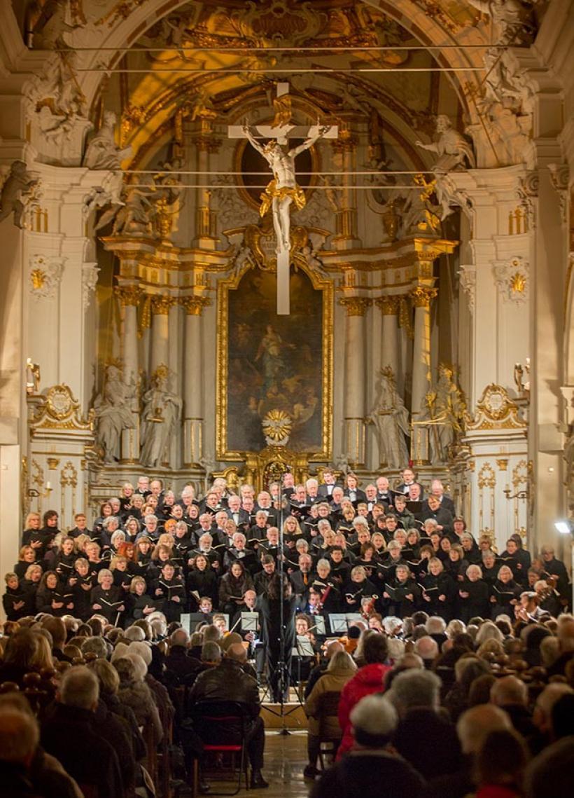 <p>Ulmer Kantorei 2018 in der Klosterkirche in Oberelchingen</p>