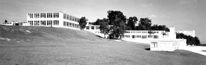 <p>Historische Ansicht der Hochschule für Gestaltung Ulm</p>