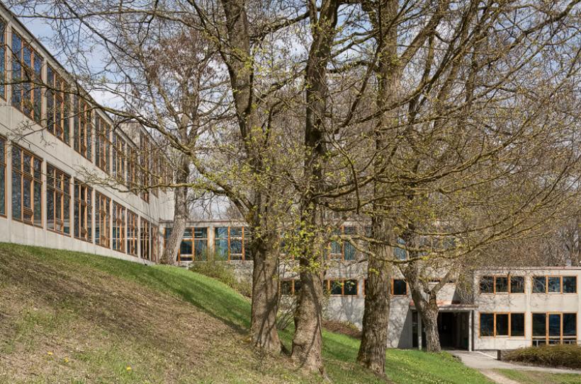 <p>Gebäude der Hochschule für Gestaltung Ulm mit HfG-Archiv Ulm</p>